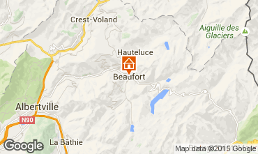Carte Areches Beaufort Gite 367