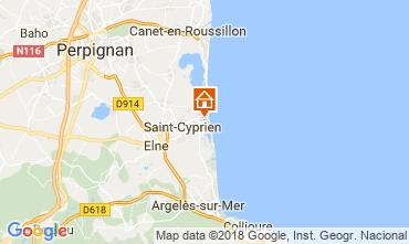 Carte Saint Cyprien Plage Studio 113321