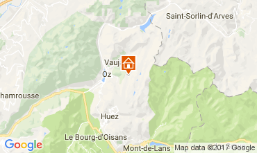 Carte Oz en Oisans Appartement 4841