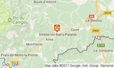 Carte Amélie-Les-Bains Studio 112815