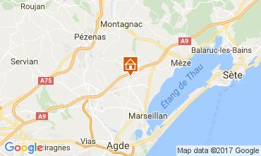 Carte Cap d'Agde Villa 110387