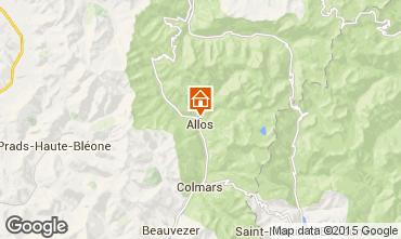 Carte Val d'Allos Chalet 72610