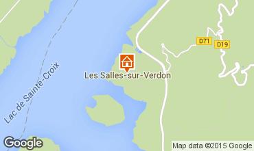 Carte Les Salles sur Verdon Mobil-home 96624