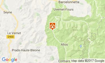 Carte Val d'Allos Appartement 50706