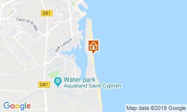 Carte Saint Cyprien Plage Appartement 82254