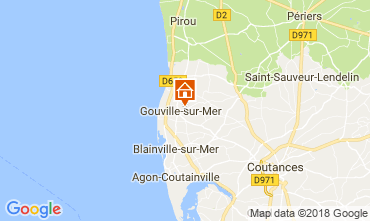 Carte Gouville sur Mer Gite 97855