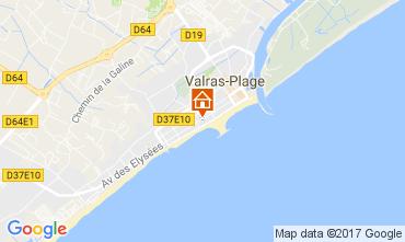Carte Valras-Plage Studio 109332