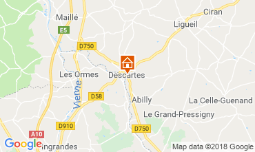 Carte Loches Gite 75895