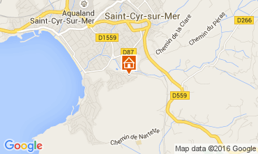 Carte Saint Cyr sur Mer Studio 89046