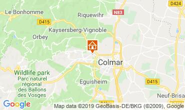 Carte Colmar Gite 119196