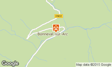 Carte Bonneval sur Arc Appartement 93857