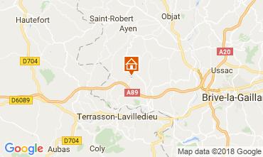 Carte Brive-la-Gaillarde Gite 113617