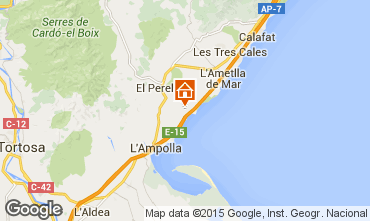 Carte La Ametlla de Mar Chalet 102063