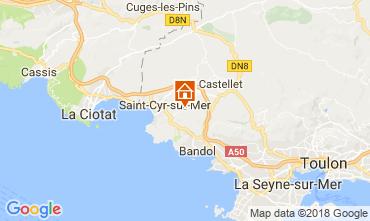 Carte La Cadière d'Azur Gite 114157