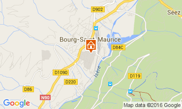 Carte Bourg saint Maurice Studio 106038