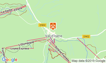 Carte Val d'Isère Appartement 117667