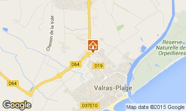 Carte Valras-Plage Mobil-home 95160