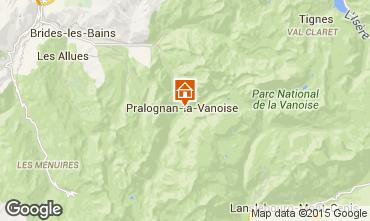 Carte Pralognan la Vanoise Gite 2290