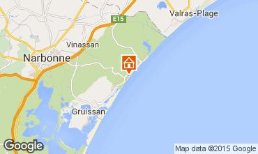Carte Narbonne plage Villa 93844