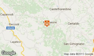 Carte Montaione Gite 81278