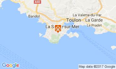 Carte La Seyne sur Mer Villa 109220