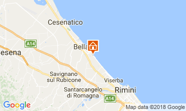 Carte Bellaria Igea Marina Appartement 114507
