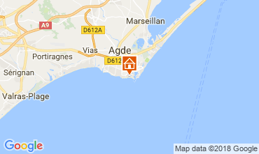 Carte Cap d'Agde Appartement 95210