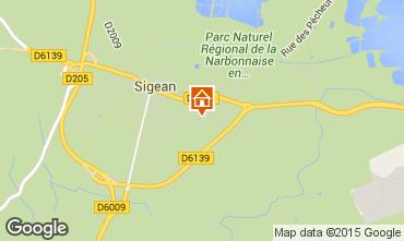 Carte Sigean Villa 29394