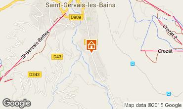 Carte Saint Gervais Mont-Blanc Chalet 48749