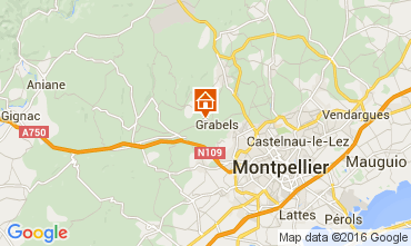 Carte Montpellier Gite 88023