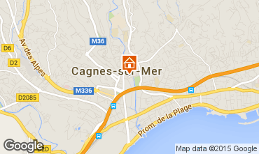 Carte Cagnes sur Mer Appartement 92068