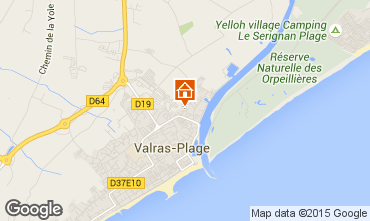 Carte Valras-Plage Appartement 69389