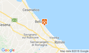 Carte Bellaria Igea Marina Appartement 82163