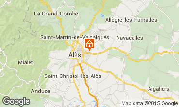 Carte Alès Gite 68431