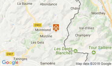 Carte Morzine Chalet 114335