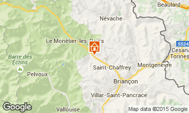 Carte Serre Chevalier Chalet 2855