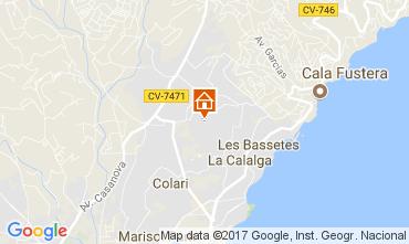 Carte Calpe Villa 111838