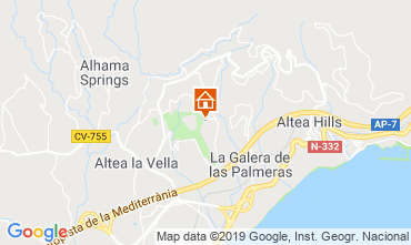 Carte Altea Villa 118053