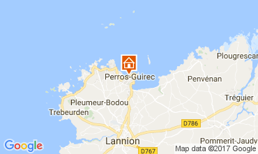Carte Perros-Guirec Appartement 106712
