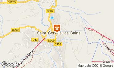 Carte Saint Gervais Mont-Blanc Studio 103150
