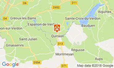 Carte Sainte-Croix-du-Verdon Villa 114381