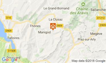 Carte Manigod-Croix Fry/L'étale-Merdassier Appartement 67225