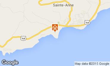 Carte Sainte Anne (Guadeloupe) Bungalow 8023