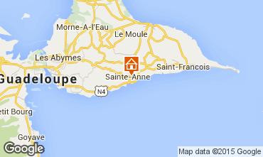 Carte Sainte Anne (Guadeloupe) Gite 54345