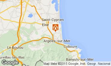 Carte Argeles sur Mer Mobil-home 69743