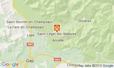 Carte Saint Léger les Mélèzes Chalet 4835