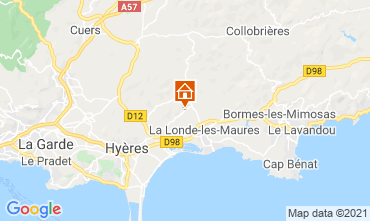 Carte Bormes Les Mimosas Villa 51988