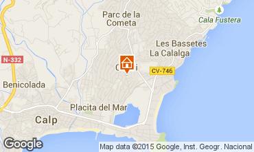 Carte Calpe Villa 95181
