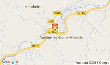 Carte Amélie-Les-Bains Appartement 103544