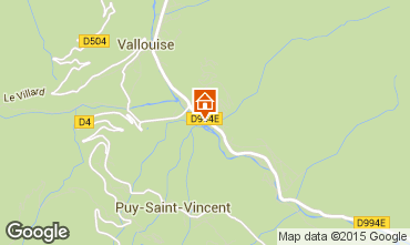 Carte Puy Saint Vincent Chalet 94407
